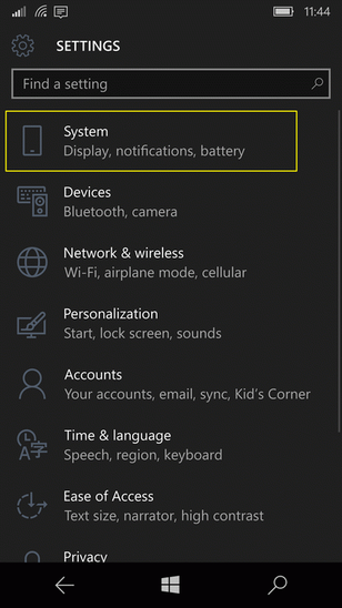 21 Как посмотреть свой номер телефона на Windows 10 Mobile_windows