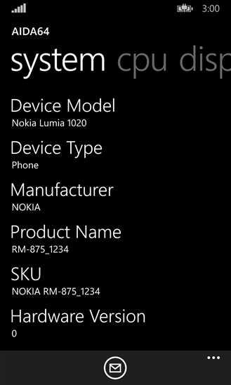 AIDA64 – приложение диагностики девайса Windows Phone