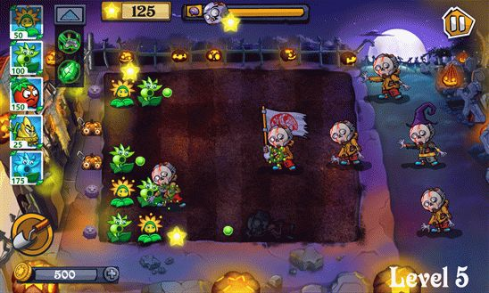 Angry Flowers HD – клон игры Plants vs. Zombie для Windows Phone