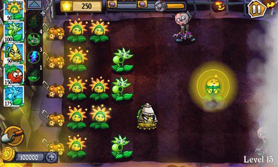 Angry Flowers HD – клон игры Plants vs. Zombie для Windows Phone