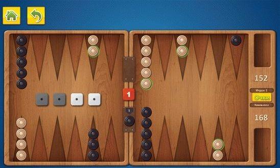 Backgammon - логическая игра в нарды