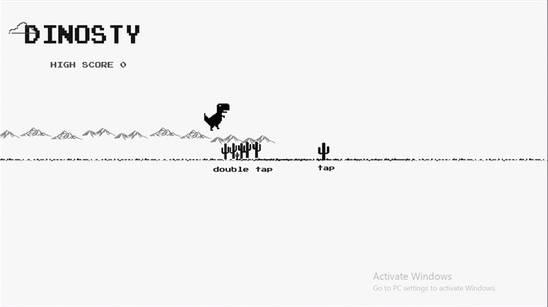 Dinosty — ремейк игры из Google Chrome для Windows