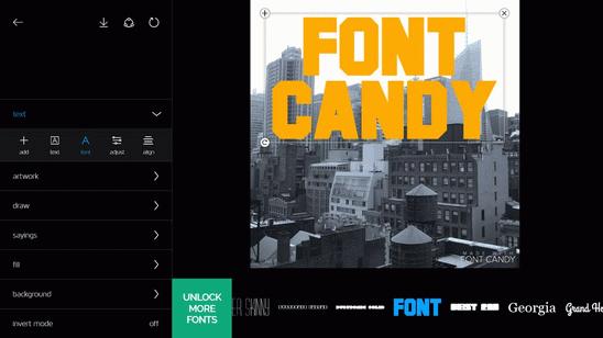 Font Candy на компьютер