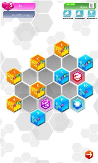 Игра логическая головоломка Hexic для Windows Phone 8.1 и Windows 8.1 бесплатно