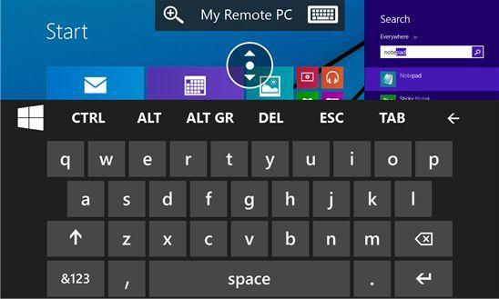 Microsoft Remote Desktop Preview управления компьютером с помощью Windows Phone
