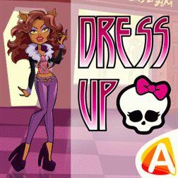 Monster High Dress Up (Монстр Хай) – одевалка для девочек