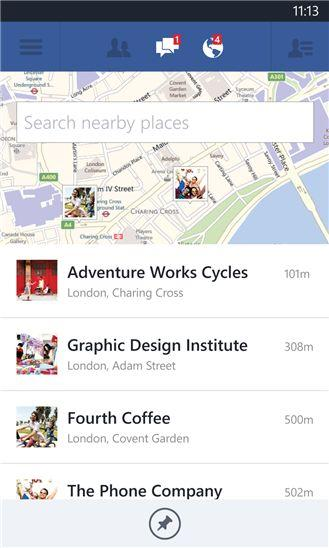 Обновления Facebook для Windows Phone 8 с новой функцией Live Tiles