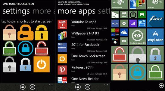 One Touch Lockscreen для Windows Phone – продлит жизнь кнопке блокировки