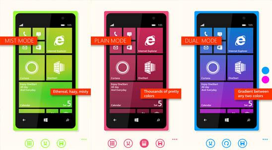 OneStart – создайте стартовый экран Windows Phone под себя