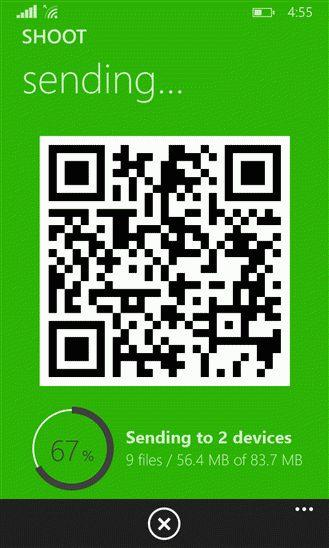 Отправка видео и фотографий напрямую со смартфона на смартфон
