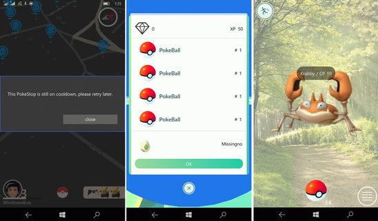 PoGo-UWP – клиент Pokemon GO на Windows 10 Mobile