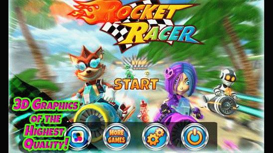 Rocket Racer скачать уникальный автомобильный симулятор