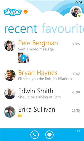 Skype на Windоws Device Phоnе3