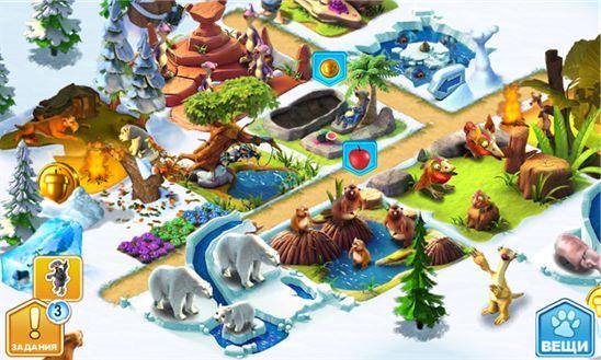 Социальная игра Ice Age Village от компании Микрософт