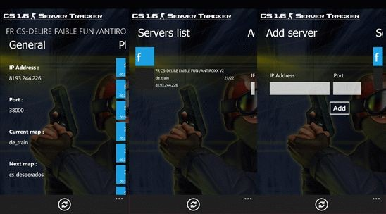 Сounter Strike 16 – следи за игрой на Windows Phone