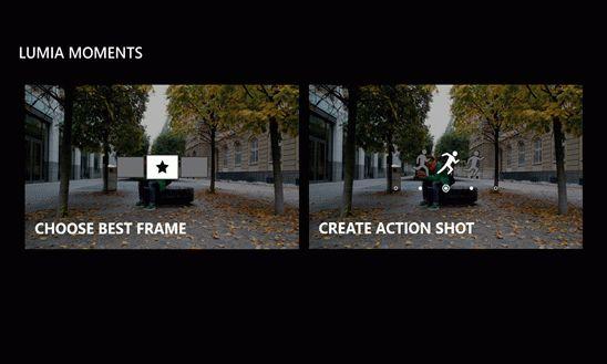 Создать снимки движущихся объектов с Lumia Мгновения проще простого