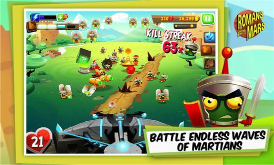 Спаси мир с Romans From Mars для Windows Phone 8