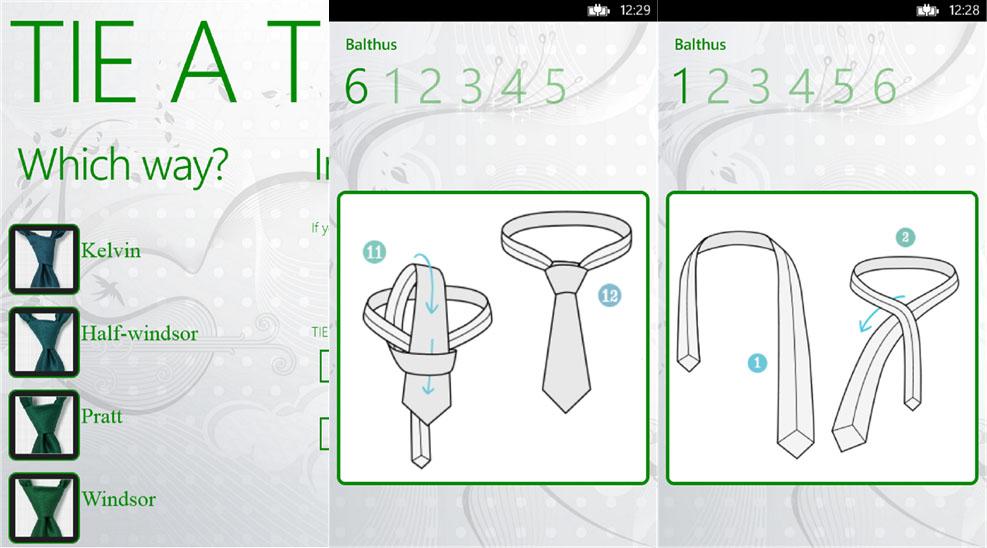 Tie для виндовс фон подскажет как завязывать галстук