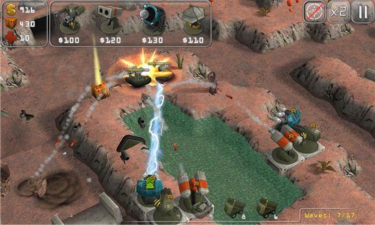 Total Defense 3D — здесь строят новые башни и ставят защиту для базы