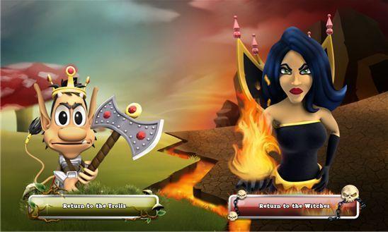 Troll Wars – война ведьм и троллей для виндовс фон