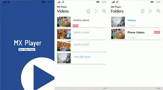 В Windows Phone Store появился видеплеер MX Player для Windows Phone 8