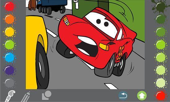 Встречайте интересную раскраску по мотивам мультфильма «Тачки» - Cars Paint