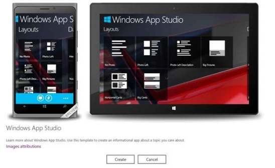 Windows App Studio Beta – сервис для написания универсальных приложений для Windows Phone и Windows