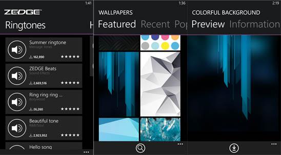 ZEDGE – скачать рингтоны и обои для Windows Phone